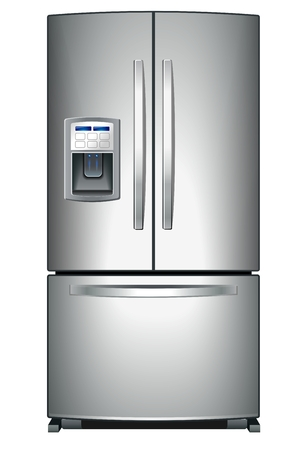 Refrigerator with Icemaker Vector