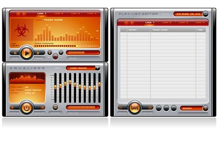 Media Player Orange Vector