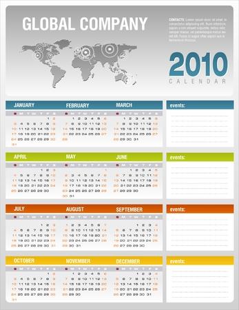 Calendar 2010 Stock Vector - 5945563