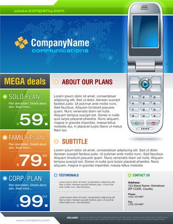 Cellphone Brochure Stock Vector - 5945577