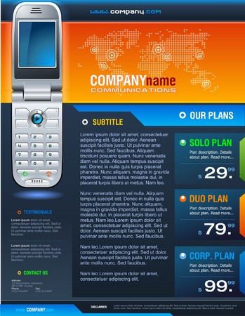 mobile device: Cellphone Brochure Illustration
