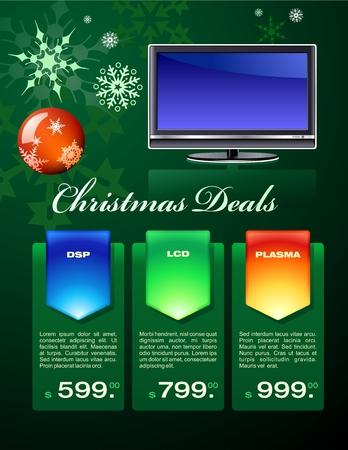 Christmas deals flyer Stock Vector - 5945565
