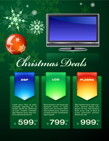 display type: Christmas deals flyer Illustration