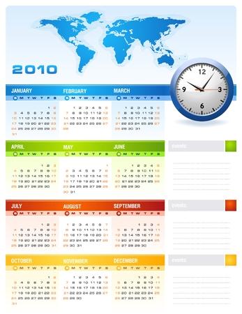 2010 Calendar Stock Vector - 5966218
