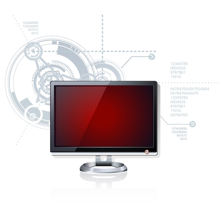 lcd tv: Screen Illustration
