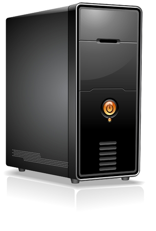 コンピューターの現実的なケースサーバーワークステーション
