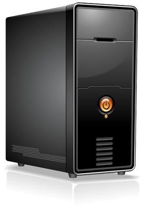 server: Caso realistico del computer  server  workstation Vettoriali