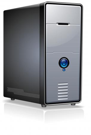 computer service: Realistische Case of Computer  Server  Workstation