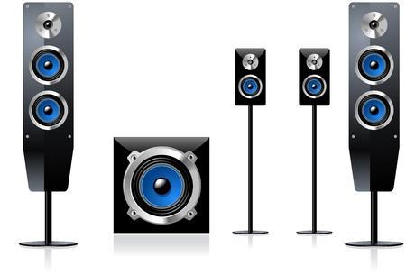 Loudspeakers 版權商用圖片 - 6144346