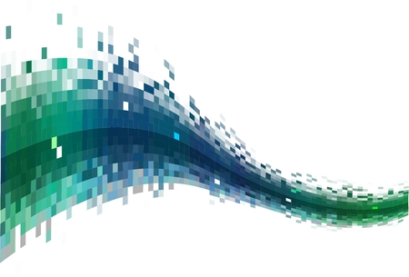 pixel art: Abstract Data stream