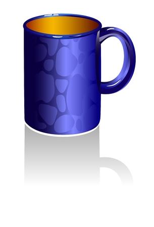 Blue Mug 向量圖像