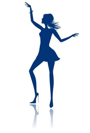 Dancing girl Stock Vector - 6301967