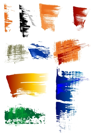 Grunge brushes pack Vector