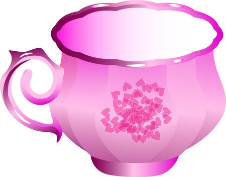 dinner party: Teacup Illustration