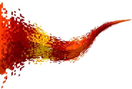 抽象的なデータ ストリーム  イラスト・ベクター素材