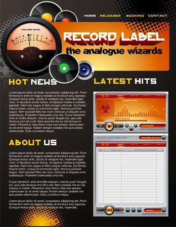 Record Label brochure Vector