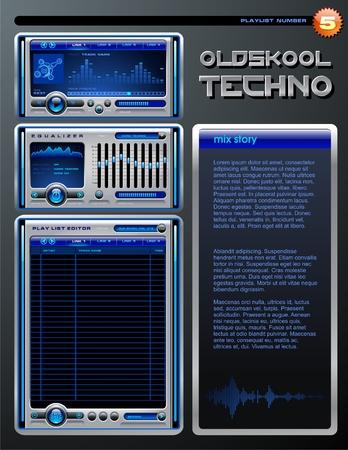 Playlist brochure Vector