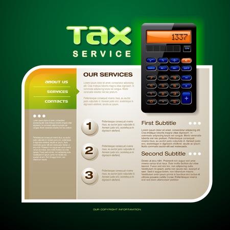 Tax Service Brochure Illustration