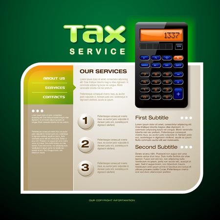 accountants: Tax Service Brochure Illustration