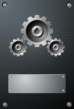Gears Brochure Vector
