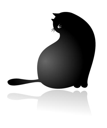 Big Fat Cat Sitting Stock Vector - 6787154