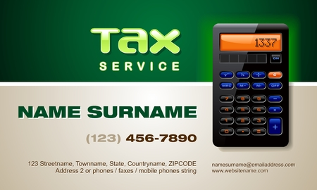 Tax Service related business card Illustration