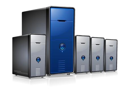 Servers  Stock Vector - 7066865
