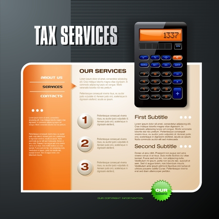 podatek: Usługi podatku Ilustracja