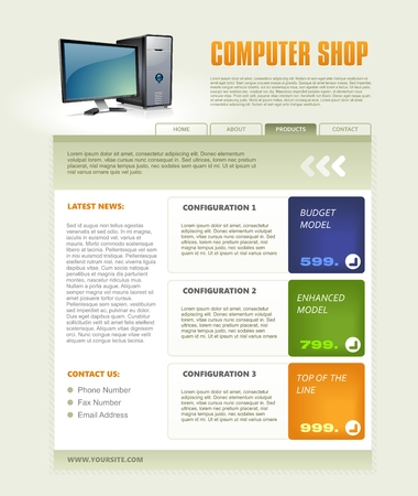 display type: Computer Web Brochure