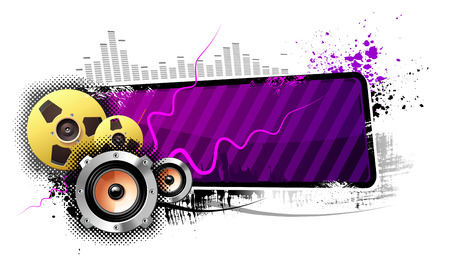 Purple Banner Vector