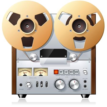 magnetofon: Reel to Reel rejestrator pokładu Ilustracja