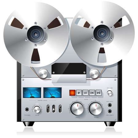 Reel to Reel Recorder Deck Illustration