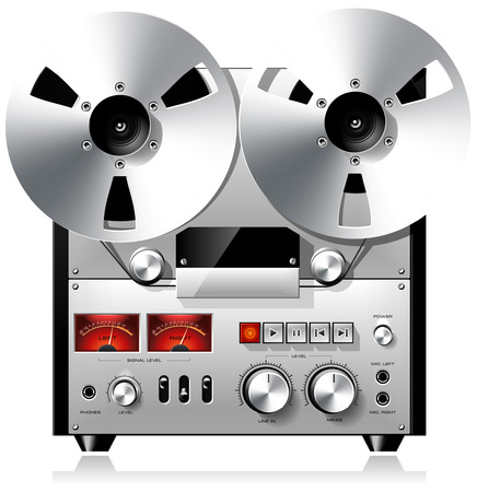 volume knob: Reel to Reel Recorder Deck Illustration