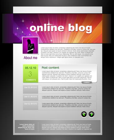 Blog Template Stock Vector - 7419936