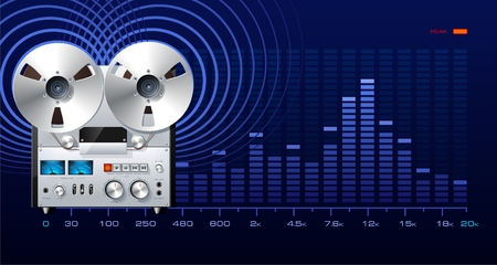 Analog recorder on the spectrum analyzer 向量圖像