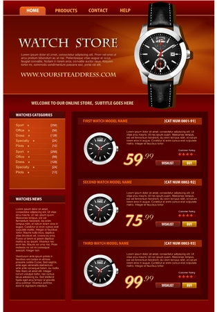 Watch web store template