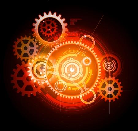 Glowing Techno-Getriebe