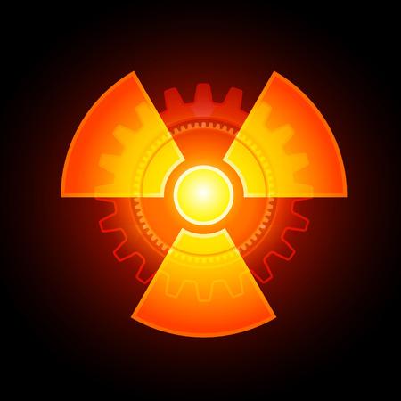 radiactividad: Signo de radiactividad Vectores