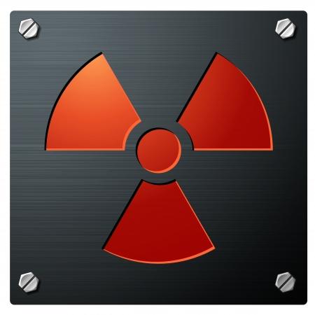 Signo de radiactividad Ilustración de vector