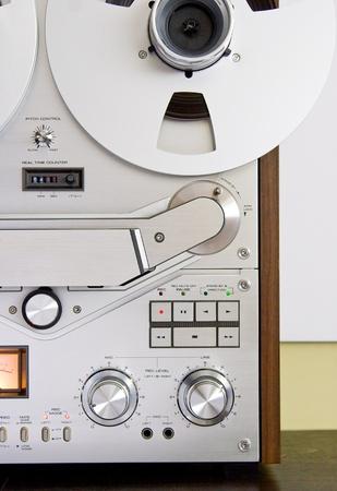 grabadora: Controles de grabadora de cinta Foto de archivo