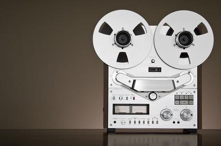 Vintage reel-to-reel tape deck recorder