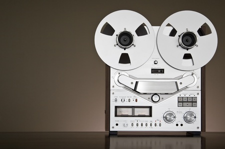 tape recorder: Vintage reel-to-reel tape deck recorder