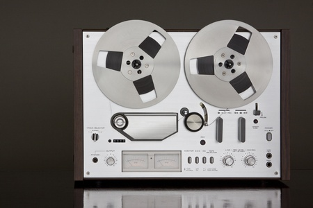 Vintage Reel-to-Reel stereo tape deck recorder photo