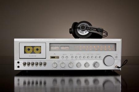 grabadora: Vendimia receptor de platina Cassette est�reo