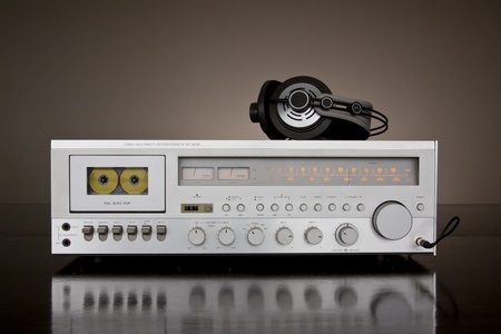 tape recorder: Vintage Stereo Cassette Tape Deck Receiver