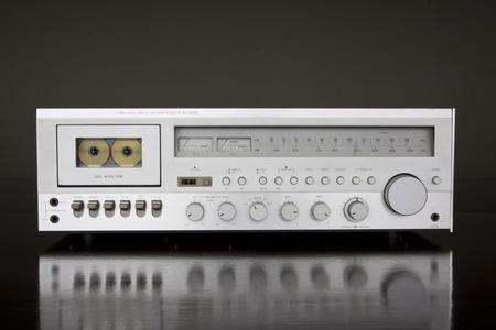 receiver: Vintage Stereo Cassette Tape Deck Receiver