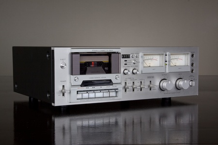 Vintage Stereo Cassette Tape Deck Recorder photo
