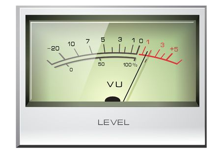 Electronic analog signal meter Banco de Imagens - 8961052