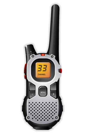 Vector detallada de walkie-Talkie radio bidireccional
