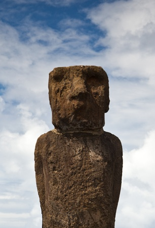Easter Island Statue, Pacific Ocean Stock Photo